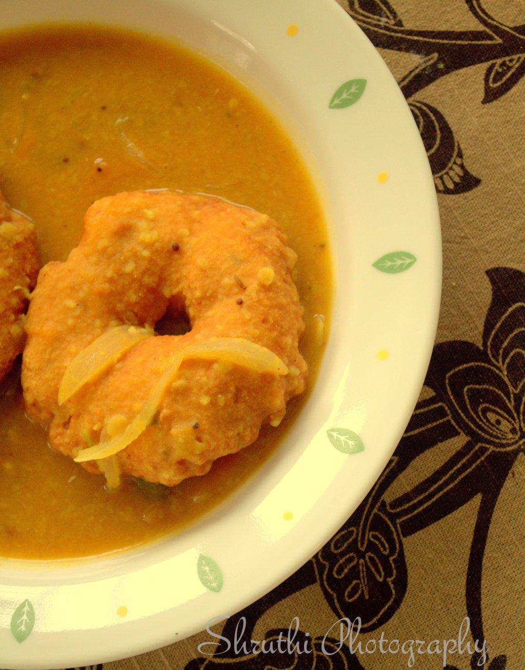 Sambar Vada for Breakfast